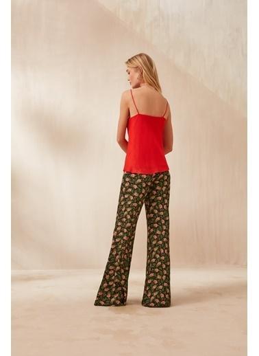 Nocturne Geniş Paça Desenli Pantolon Renkli